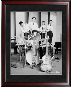 "BEATLES 1962 POSE 8"" x 10"" FRAMED"