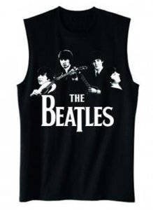 BEATLES 1965 CLASSIC PHOTO MUSCLE TEE