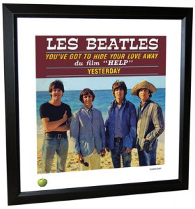 BEATLES YESTERDAY LITHOGRAPH - FRAMED