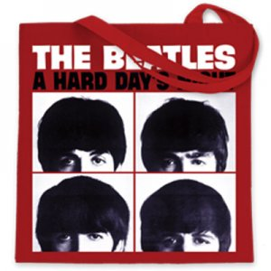 BEATLES HARD DAY'S NIGHT CANVAS TOTE