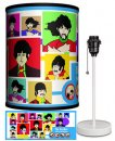 BEATLES YELLOW SUB COLLAGE LAMP-WHITE SPORT BASE