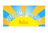 BEATLES HERE COMES THE SUN BEACH TOWEL