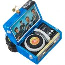 THE BEATLES RECORD PLAYER GLASS ORNAMENT