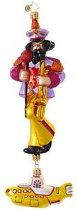 YELLOW SUBMARINE JOHN GLASS ORNAMENT