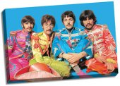 "THE BEATLES SGT. PEPPER 24"" X 36"" CANVAS"