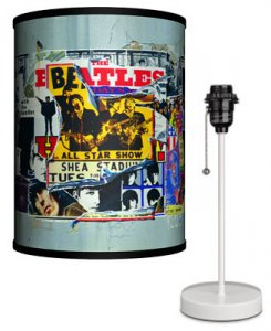 BEATLES ANTHOLOGY COVERS LAMP-WHITE SPORT BASE