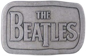 BEATLES PEWTER LOGO BELT BUCKLE