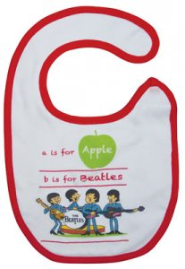 A IS FOR APPLE RED TRIM BIB