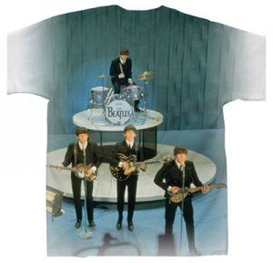 BEATLES ED SULLIVAN SHOW SUBLIMATION T