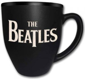 THE BEATLES LOGO BLACK MUG