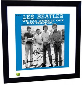 BEATLES DAY TRIPPER LITHOGRAPH - FRAMED