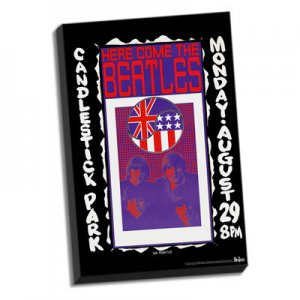 "BEATLES at CANDLESTICK PARK 8/29/66 24"" x 36"" CANVAS"