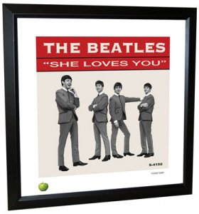 BEATLES SHE LOVES YOU (US) LITHOGRAPH - FRAMED
