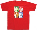 YELLOW SUBMARINE SEA OF SCIENCE RED T-SHIRT