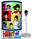 BEATLES YELLOW SUB COLLAGE LAMP-SILVER SPORT BASE