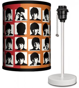 BEATLES HARD DAY'S NIGHT LAMP-WHITE SPORT BASE