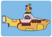 YELLOW SUBMARINE SHAPED MOUSE PAD