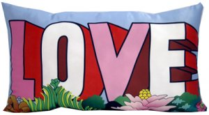 "THE BEATLES ""LOVE"" PILLOW"