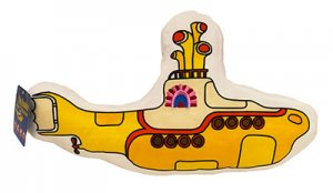 BEATLES YELLOW SUBMARINE SHAPED PILLOW