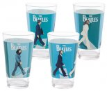 BEATLES ABBEY ROAD 4 PC SET OF 16 OZ GLASSES