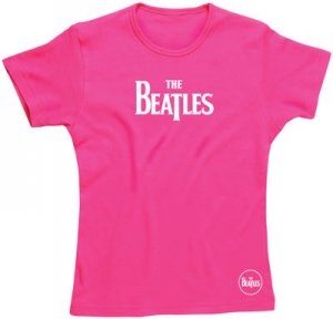 JR GIRLS BEATLES LOGO CERISE T-SHIRT Save 30%