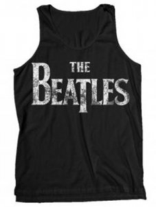 THE BEATLES DISTRESSED LOGO TANK
