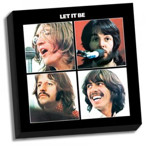 "BEATLES LET IT BE ALBUM COVER 20"" x 20"" CANVAS"