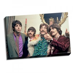 "BEATLES at SGT. PEPPER PARTY 22"" x 26"" CANVAS"