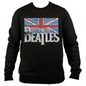 BEATLES LOGO/UK FLAG CREWNECK SWEATSHIRT