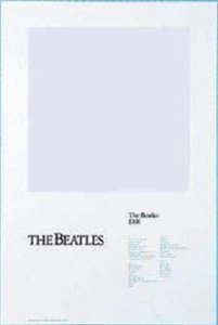 BEATLES WHITE ALBUM ART PRINT