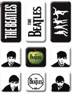 EARLY BEATLES 9 PIECE MINI MAGNET SET