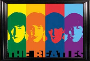 THE BEATLES FACES WALL MIRROR