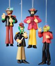 BEATLES 2015 SGT PEPPER 4 PC ORNAMENT SET