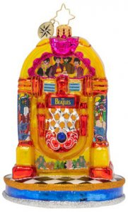 PEPPERLAND YELLOW SUBMARINE JUKE BOX GLASS ORNAMENT