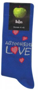 BLUE ALL YOU NEED IS LOVE MEN'S SOCKS