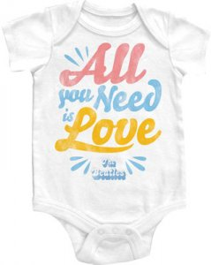 ALL YOU NEED IS LOVE ONESIE - 6 MONTHS