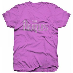 LADIES BEATLES LOGO PINK FASHION TEE