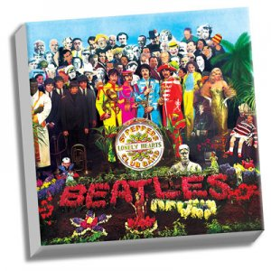"BEATLES SGT. PEPPER ALBUM COVER 20"" x 20"" CANVAS"