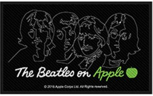 BEATLES ON APPLE SILHOUETTE PATCH