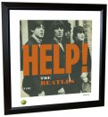 BEATLES HELP! LITHOGRAPH - FRAMED
