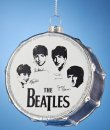 "BEATLES 3"" GLASS SILVER DRUM ORNAMENT"