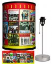 BEATLES #1 SINGLES COVERS LAMP-SILVER SPORT BASE