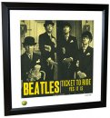 BEATLES TICKET TO RIDE LITHOGRAPH - FRAMED