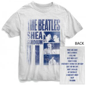 BEATLES AT SHEA STADIUM WHITE T-SHIRT