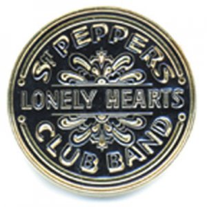 GOLD SGT.PEPPER METAL/CERAMIC PIN BADGE
