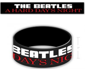 A HARD DAY'S NIGHT RUBBER BRACELET