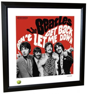 BEATLES GET BACK LITHOGRAPH - FRAMED