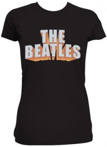 JR GIRLS BLACK BEATLES TEE Large - Last Two Save 40%
