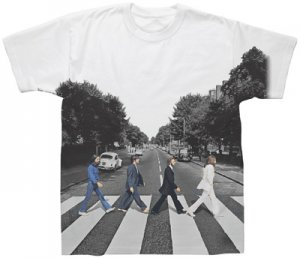 BEATLES ABBEY ROAD SUBLIMATION T