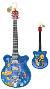 STRUMMING IN PEPPERLAND GUITAR GLASS ORNAMENT